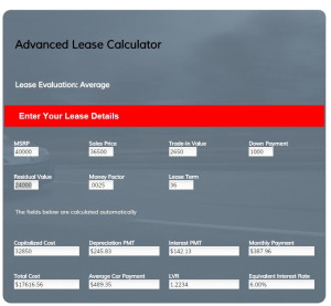 Advanced Car Lease Evaluiator