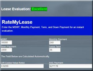 Basic Lease Evaluator